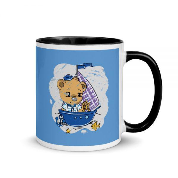 Tendy Bear Ship Mug with Black Color Inside