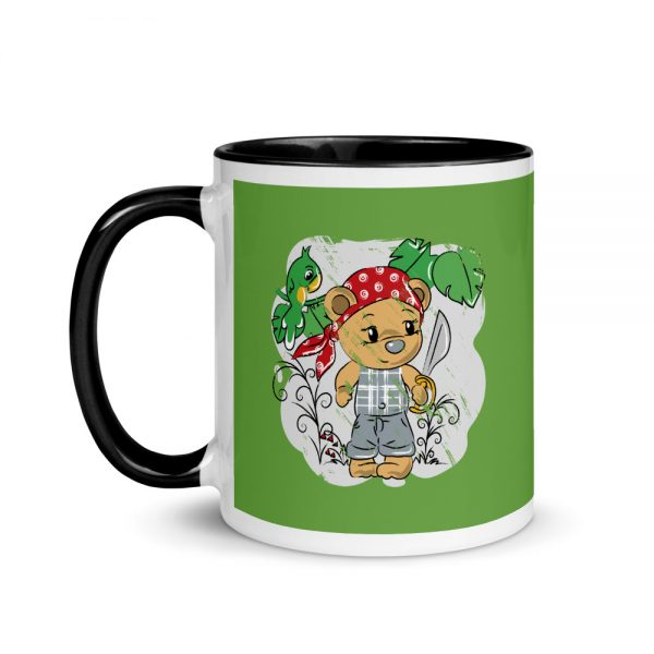 Tendy Bear Pirate Mug with Black Color Inside