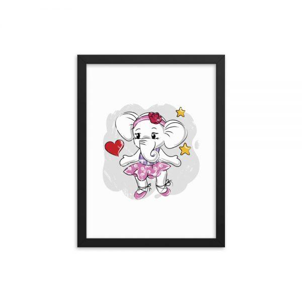 Love Elephant Framed poster