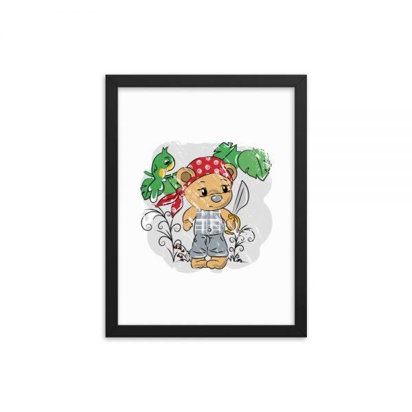 Tendy Bear Pirate Framed poster