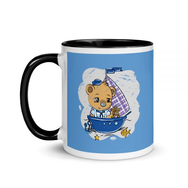 Tendy Bear Ship Mug with Black Color Inside